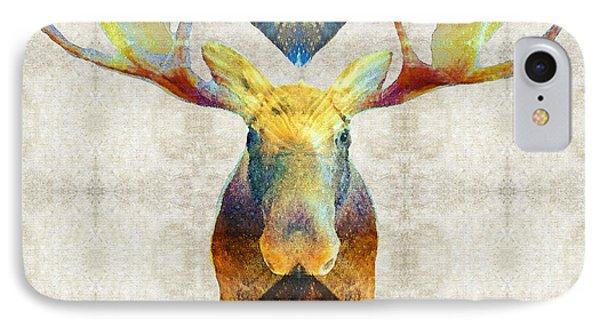 Mystic Moose Art By Sharon Cummings IPhone Case by Sharon Cummings