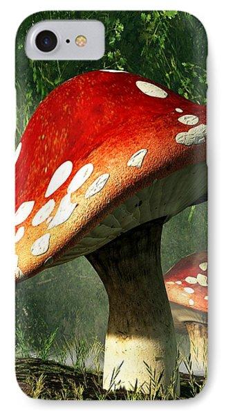 Mystic Mushroom Phone Case by Daniel Eskridge