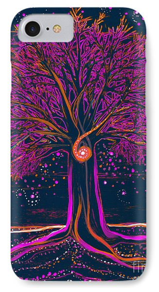 Mystic Spiral Tree 1 Pink By Jrr IPhone Case by First Star Art