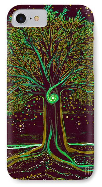 Mystic Spiral Tree  Green By Jrr IPhone Case by First Star Art