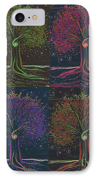 Mystic Spiral Tree X 4 By Jrr IPhone Case by First Star Art