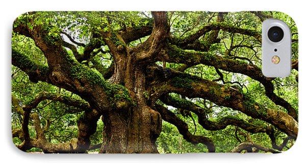 Mystical Angel Oak Tree Phone Case by Louis Dallara