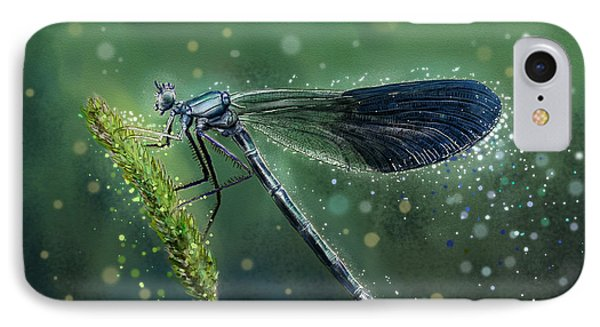 mystical Banded Demoiselle IPhone Case
