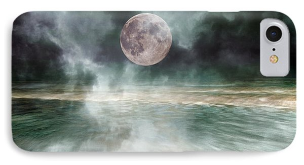 Mystical Beach Moon IPhone Case by Betsy Knapp