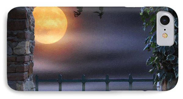 Mystical Moon IPhone Case by Kenny Francis