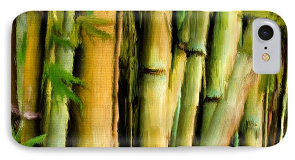 Mystique Beauty- Bamboo Artwork IPhone Case by Lourry Legarde