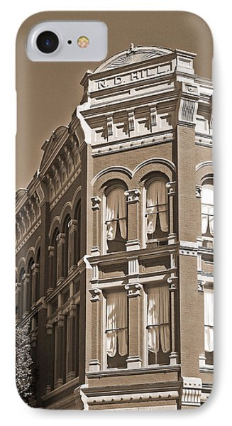 N. D. Hill Building. Port Townsend Historic District  IPhone Case by Connie Fox
