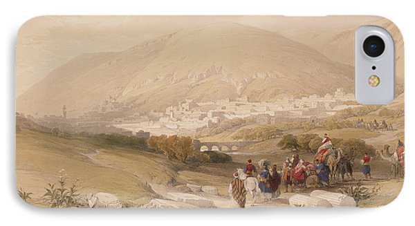 Nablous   Ancient Shechem IPhone Case by David Roberts