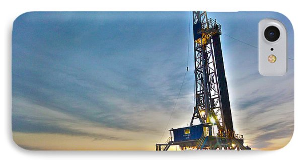 IPhone Case featuring the photograph Nabors Rig In West Texas by Lanita Williams