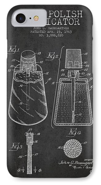 Nail Polish Applicator Patent From 1963 - Dark IPhone Case by Aged Pixel