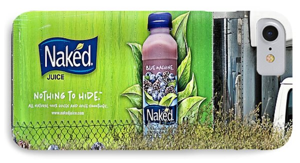 Naked Juice - Nothing To Hide Phone Case by Bob Wall