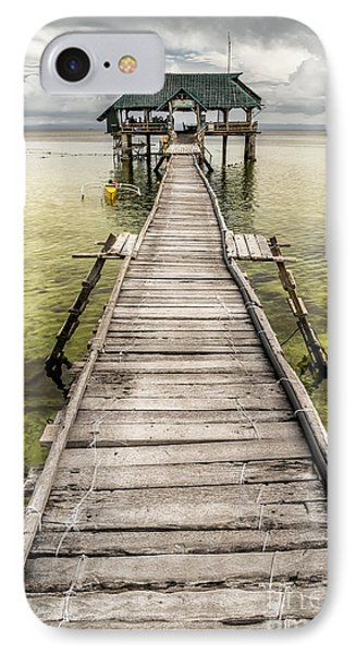 Nalusuan Island Pier IPhone Case by Adrian Evans