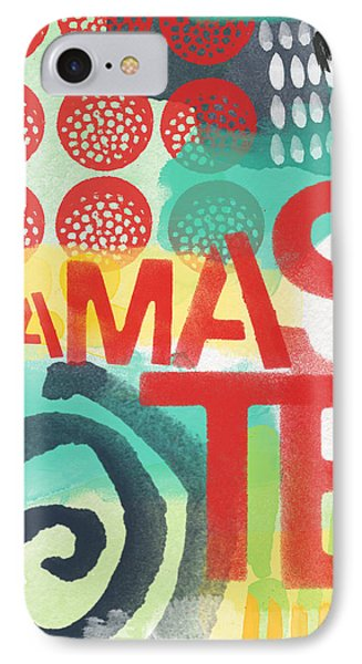Namaste- Contemporary Abstract Art IPhone Case by Linda Woods