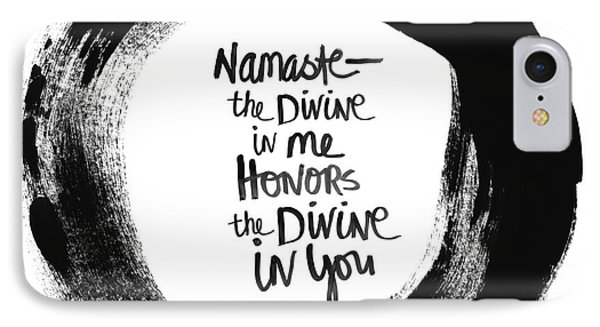 Namaste Enso IPhone Case by Linda Woods