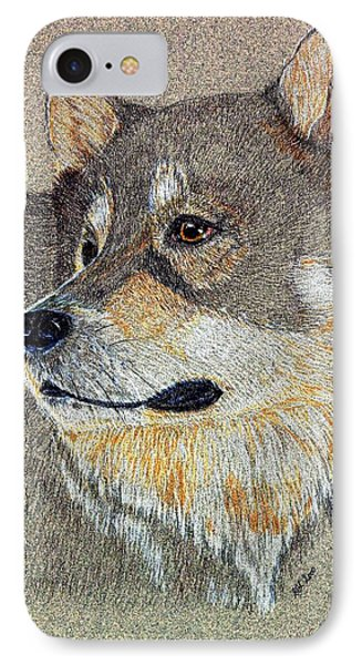 IPhone Case featuring the drawing Nanook by Stephanie Grant