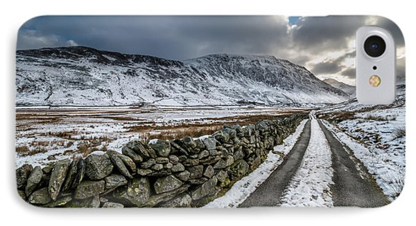 Nant Ffrancon Pass IPhone Case by Adrian Evans