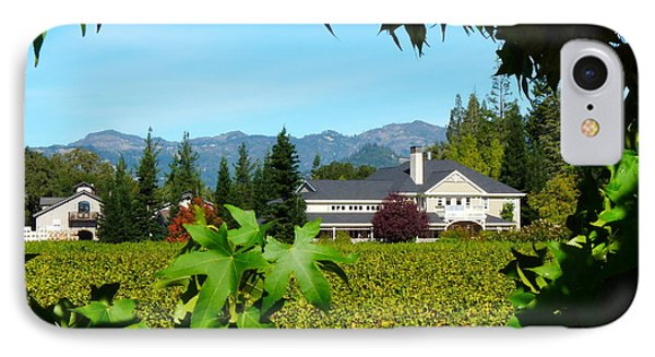 Napa Valley Duckhorn Winery IPhone Case by Jeff Lowe
