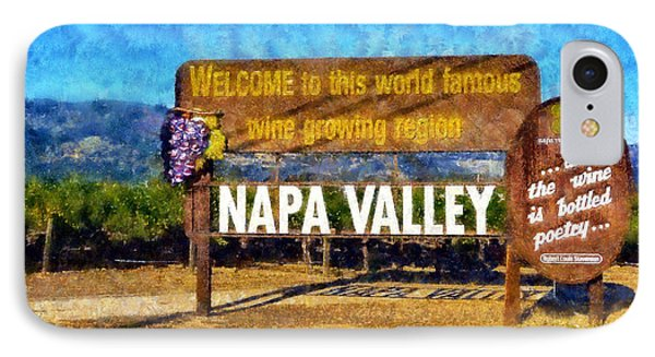 Napa Valley Sign Phone Case by Kaylee Mason