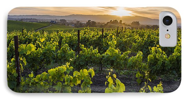 Napa Valley Sunset  IPhone Case by John McGraw
