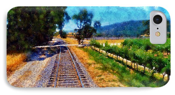 Napa Valley Tracks Phone Case by Kaylee Mason