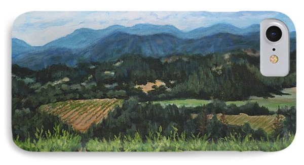 Napa Valley Vineyard IPhone Case by Penny Birch-Williams
