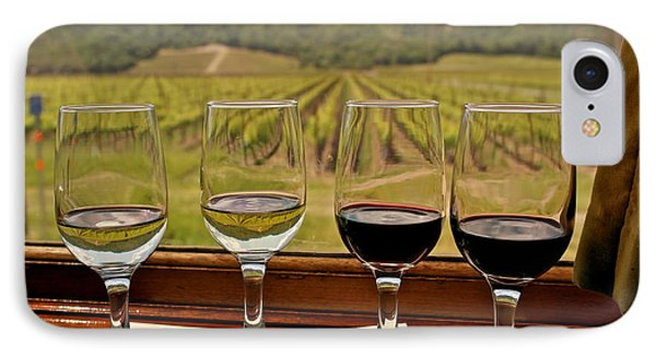 Napa Valley Wine Train Delights IPhone Case by Michele Myers
