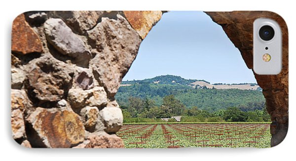 IPhone Case featuring the photograph Napa Vineyard by Shane Kelly