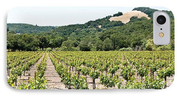 Napa Vineyard With Hills Phone Case by Shane Kelly
