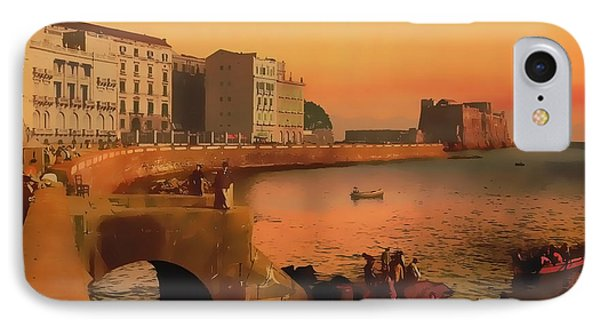 IPhone Case featuring the painting Naples Italy 1920 by Douglas MooreZart