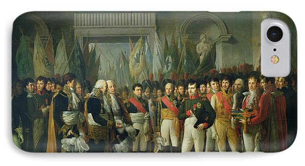 Napoleon I 1769-1821 Receiving The Deputies Of The Conservative Senate At The Royal Palace IPhone Case