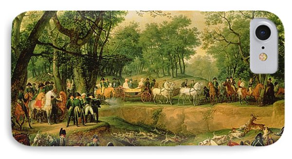Napoleon On A Hunt In The Compiegne Forest, 1811 Oil On Canvas IPhone Case by Antoine Charles Horace Vernet
