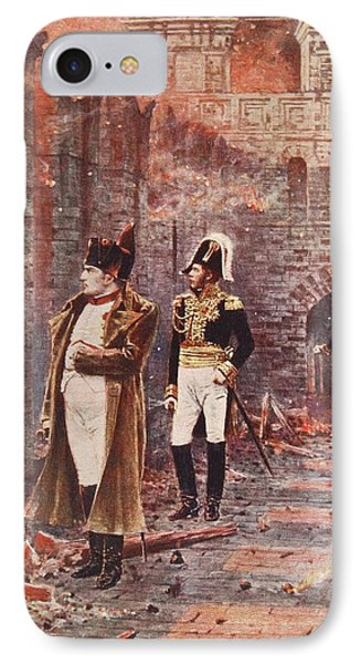 Napoleon Watching The Fire Of Moscow Phone Case by Nikolai Stepanovich Vereshchagin