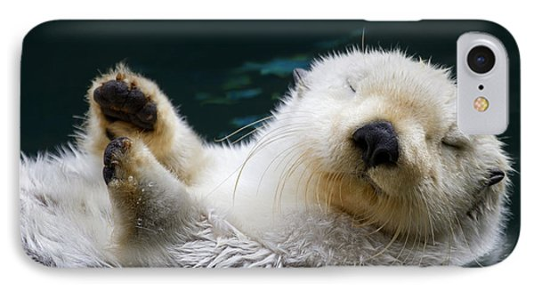 Otter iPhone 7 Case - Napping On The Water by Mike  Dawson
