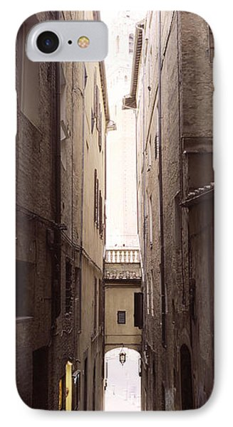 Narrow Alley With Old Buildings, Siena IPhone Case by Panoramic Images