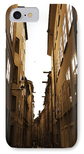 Narrow Medieval Street - Monochrome IPhone Case