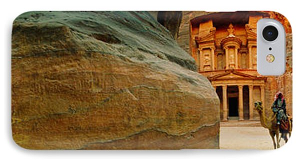 Narrow Passageway At Al Khazneh, Petra IPhone Case by Panoramic Images
