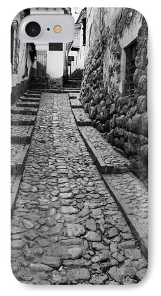 Narrow Street In Cusco IPhone Case by Alexey Stiop