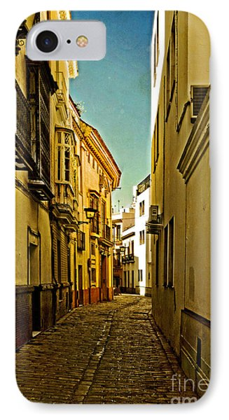 Narrow Street In Seville Phone Case by Mary Machare