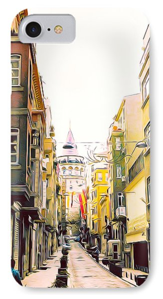 Narrow Street To Galata Tower IPhone Case
