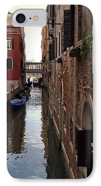 Venice Narrow Waterway IPhone Case by Walter Fahmy