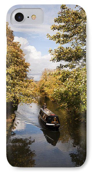 Narrowboat On The Grand Union IPhone Case by David Isaacson