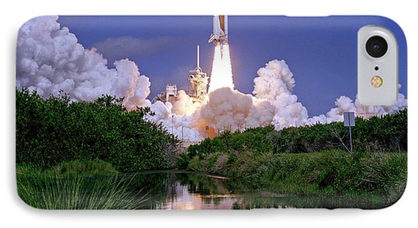 IPhone Case featuring the photograph Nasa Atlantis Launch 1 by Rod Jones