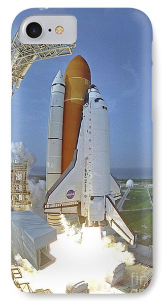 IPhone Case featuring the photograph Nasa Endeavor Launch by Rod Jones