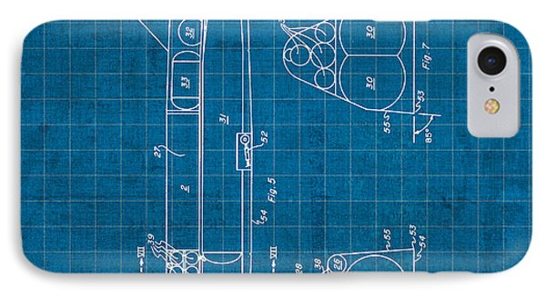 Nasa Space Shuttle Vintage Patent Diagram Blueprint IPhone Case by Design Turnpike
