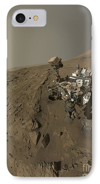 Nasas Curiosity Mars Rover On Planet IPhone Case by Stocktrek Images