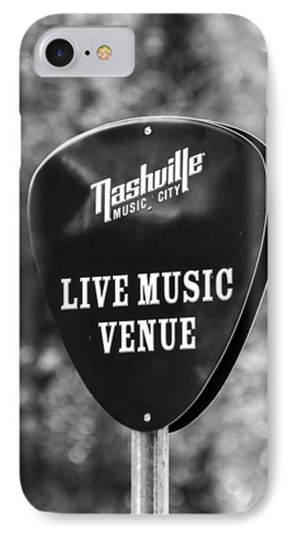 Nashville Music City Sign IPhone Case by Debbie Green