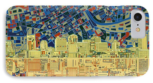 Nashville Skyline Abstract 9 IPhone 7 Case