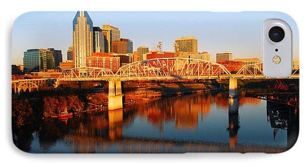 Nashville Skyline IPhone Case by James Kirkikis