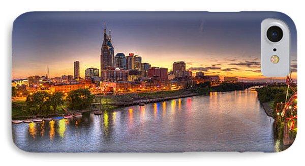Nashville Skyline Panorama Phone Case by Brett Engle