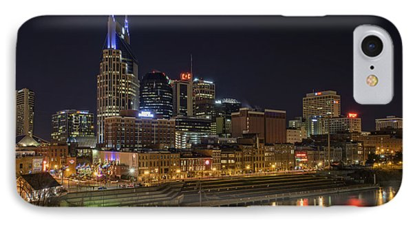 Nashville Skyline IPhone Case by Rick Berk